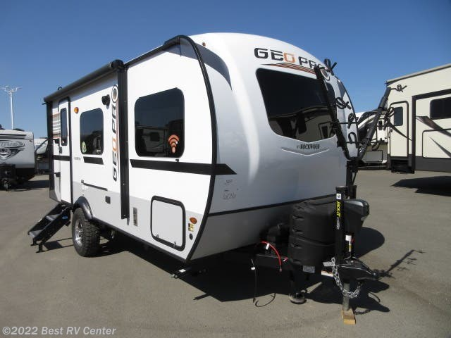 New 2019 Forest River Rockwood Geo Pro 19QBG Dry Weight 3106Lb /Solar System/Slide Out/ O available in Turlock, California