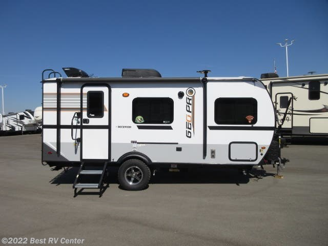 2019 Forest River Rockwood Geo Pro 19QBG Dry Weight 3106Lb /Solar System/Slide Out/ O - New Travel Trailer For Sale by Best RV Center in Turlock, California features Awning, Self Contained