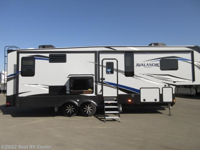2018 Keystone Avalanche 330GR Five Slide Outs /6 POINT HYDRAULIC AUTO LEVE - New Fifth Wheel For Sale by Best RV Center in Turlock, California features Air Conditioning, Awning, Self Contained
