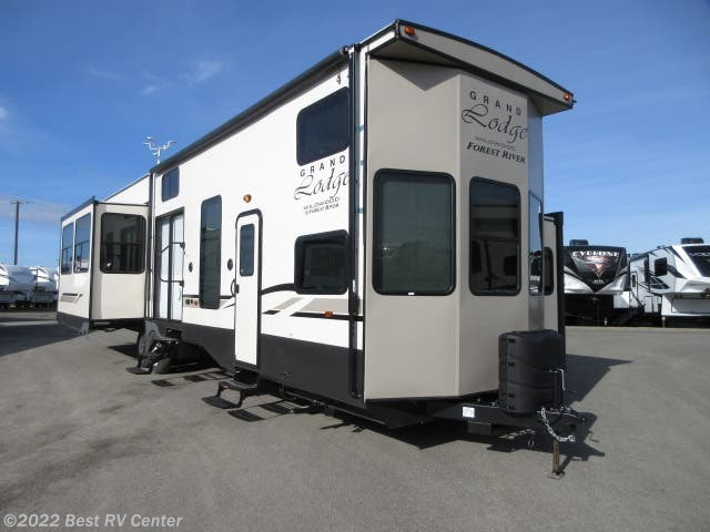 2019 Forest River Rv Wildwood Grand Lodge 42dl Gelcoat Exterior Fibergl 3 Bedrooms Rear Liv For