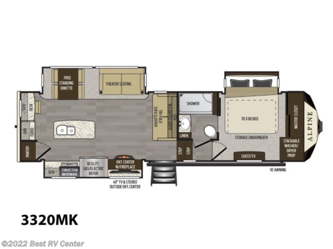 2020 Keystone Alpine 3320MK - New Fifth Wheel For Sale by Best RV Center in Turlock, California