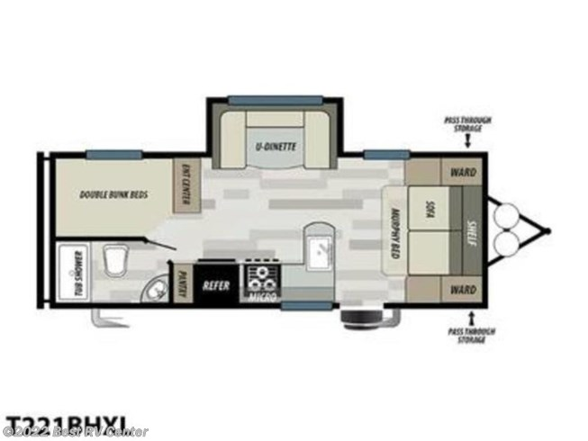 2020 Forest River Wildwood X-Lite West T221BHXL - New Travel Trailer For Sale by Best RV Center in Turlock, California