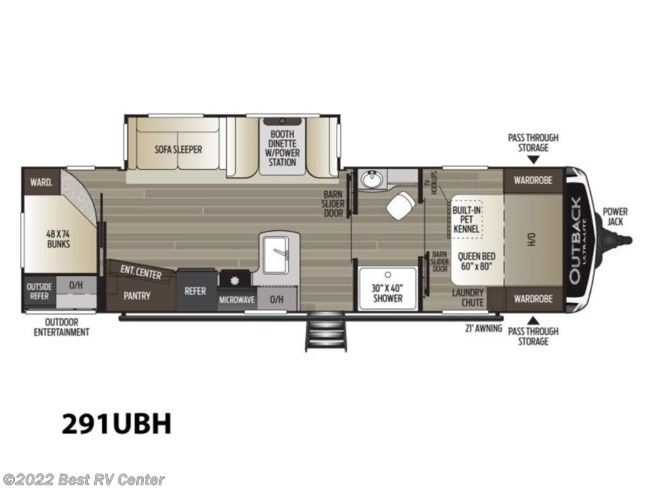 2020 Keystone Outback Ultra Lite 291UBH - New Travel Trailer For Sale by Best RV Center in Turlock, California
