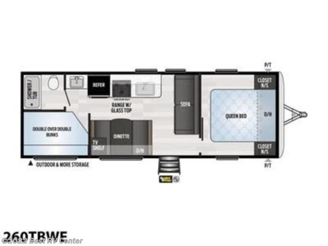 2021 Keystone Springdale 260TBWE - New Travel Trailer For Sale by Best RV Center in Turlock, California