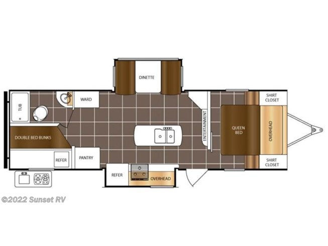 2016 Prime Time Tracer 2727 BHD floorplan image