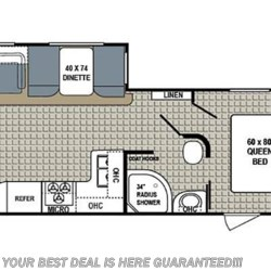 2018 Dutchmen Kodiak 290RLSL floorplan image
