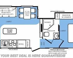 2012 Forest River Wildcat eXtraLite 272RLX floorplan image