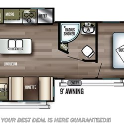 2019 Forest River Wildwood 27REI floorplan image