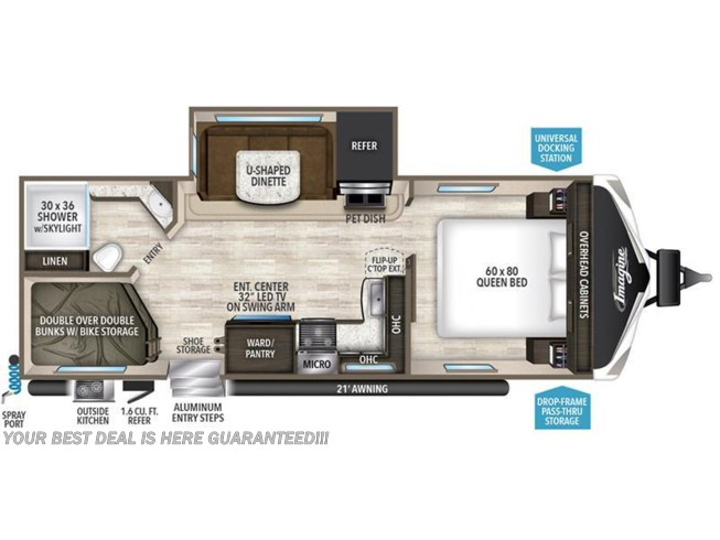 2018 Grand Design Imagine 2400BH floorplan image