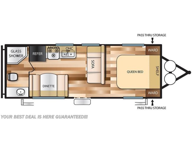 2018 Forest River Wildwood X-Lite 241QBXL floorplan image