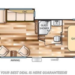2018 Forest River Wildwood 27RKSS floorplan image