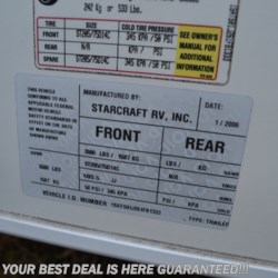 Delmarva RV Center in Seaford 2006 Starcraft 18RB  Expandable Trailer by Starcraft | Seaford, Delaware