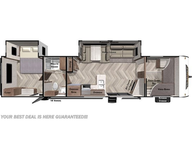 2020 Forest River Wildwood 36VBDS floorplan image