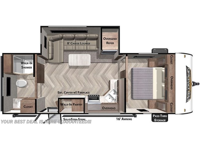 2020 Forest River Wildwood 22RBS floorplan image