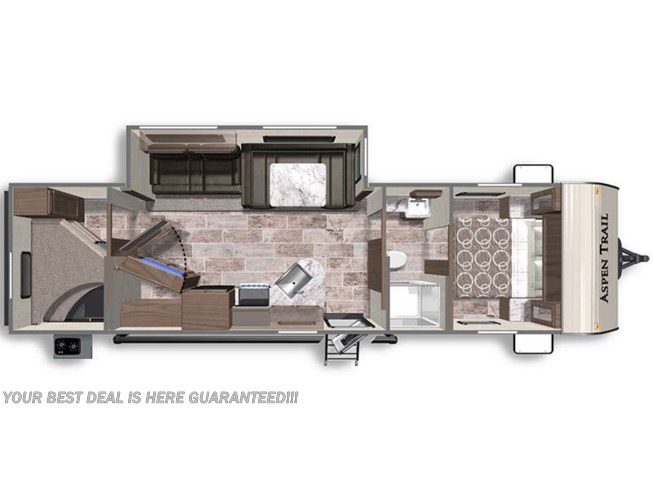 2020 Dutchmen Aspen Trail 3120BHS floorplan image