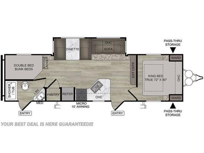 2020 East to West Della Terra 271BH floorplan image