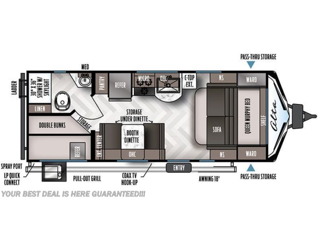 2021 East to West Alta 2100 MBH floorplan image