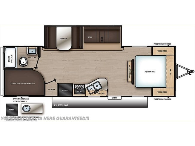 2021 Coachmen Catalina Summit 261BHS floorplan image
