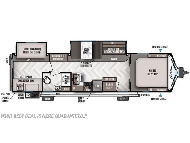 2021 East to West Alta 3150 KBH floorplan image