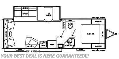 2015 Coachmen Catalina 263RLS floorplan image