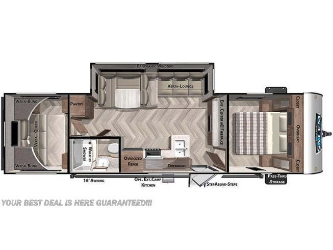 2021 Forest River Wildwood X-Lite 28VBXL floorplan image