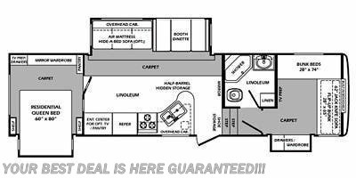 2011 Forest River Wildcat 323QB floorplan image