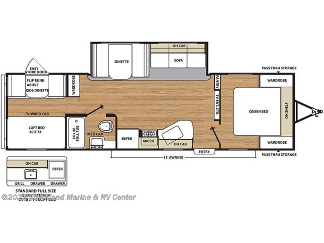 Floorplan of 2018 Coachmen Catalina SBX 301BHS CK