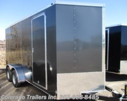 #14366 - 2018 Wells Cargo 7x16+V Enclosed Cargo Trailer