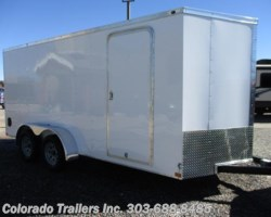 #14364 - 2018 Wells Cargo 7x16+V Enclosed Cargo Trailer