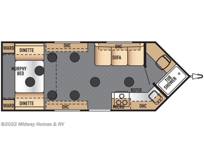 2016 Forest River True North Ice Lodge 8X21RV floorplan image