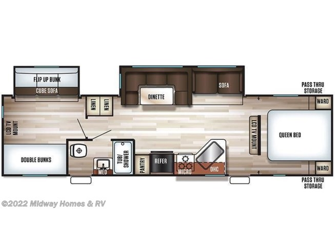 Floorplan of 2017 Forest River Cherokee 294BH