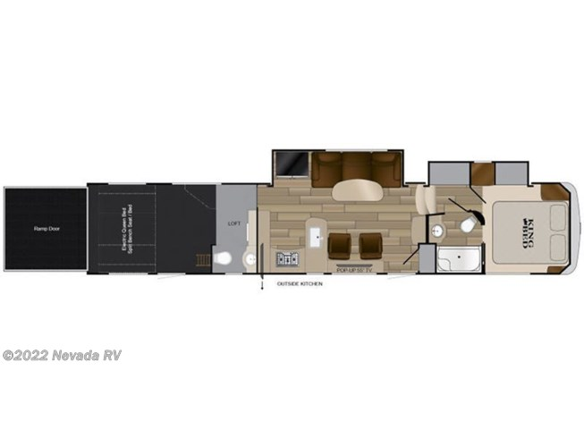 Floorplan of 2018 Heartland Cyclone CY 4115