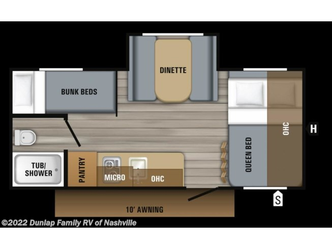2019 Jay Flight SLX 7 184BS by Jayco from Dunlap Family RV in Lebanon, Tennessee