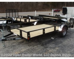 "#7610SEBLK-21837 - 2018 Rice Trailers SE New Style 76"" x 10'"