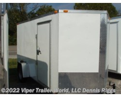 #6123SADD-09558 - 2018 Triple R 6 x 12 SA V Nose Double Door 6'-3""