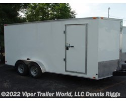 #7163TADD-09691 - 2018 Triple R 7 x 16 V Nose Double Door 6'-3""