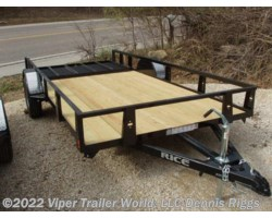 "#7612SEBLK-20104 - 2018 Rice Trailers SE New Style 76"" x 12'"