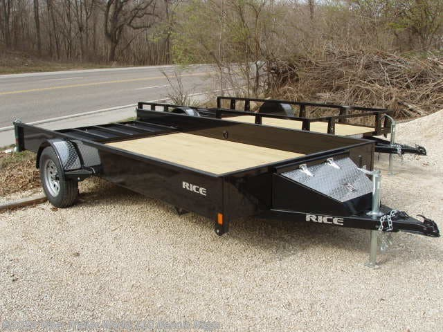 "2019 Rice Trailers Stealth 76"" x 12'"
