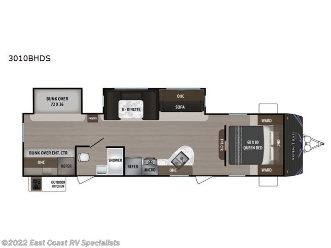 2020 Dutchmen Aspen Trail 3011BHDS - New Travel Trailer For Sale by East Coast RV Specialists in Bedford, Pennsylvania features Slideout