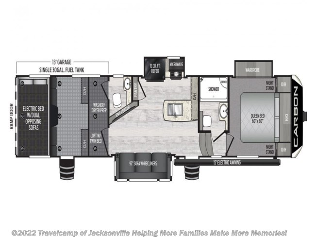 2021 Keystone Carbon 358 - New Fifth Wheel For Sale by Travelcamp of Jacksonville in Jacksonville, Florida
