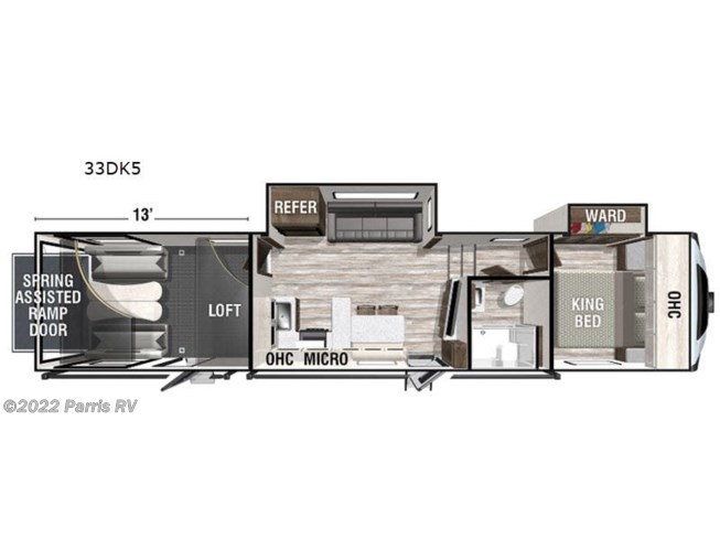 2021 Forest River XLR Nitro 33DK5 - New Toy Hauler For Sale by Parris RV in Murray, Utah features Slideout