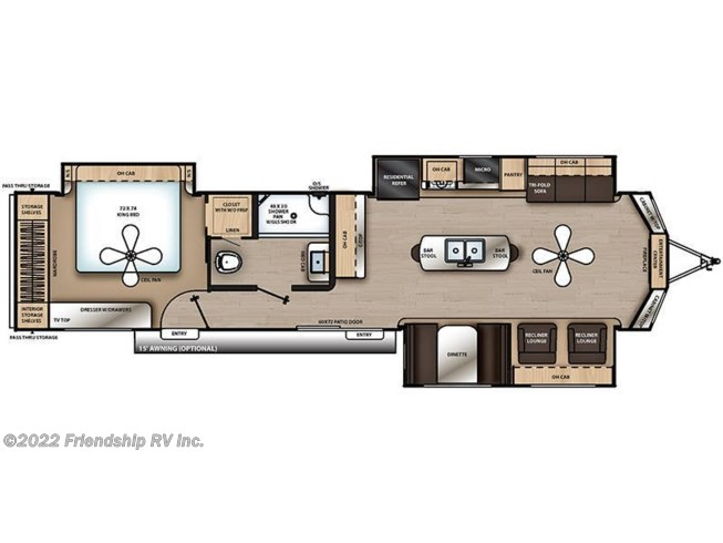 2019 Coachmen Catalina Destination 39MKTS floorplan image
