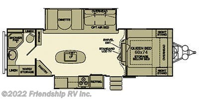 2014 EverGreen RV Sun Valley S29KIS floorplan image