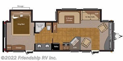 Floorplan of 2010 Keystone Sprinter 318FLS