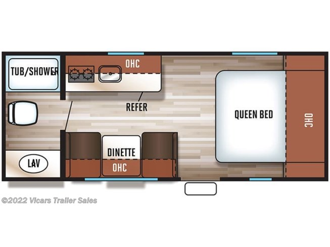 2018 Forest River Cherokee Wolf Pup 16FQ floorplan image