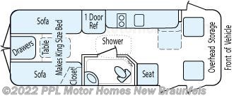 Floorplan of 2006 Roadtrek Roadtrek POPULAR 210