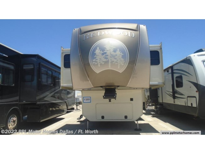 2015 Redwood RV Redwood 38FL - Used Fifth Wheel For Sale by PPL Motor Homes in Cleburne, Texas features Air Conditioning, DVD Player, Exterior Stereo, External Shower, Icemaker, Microwave, Non-Smoking Unit, Refrigerator, Satellite Dish, Slideout, Spare Tire Kit, Stabilizer Jacks, Stove, TV, Washer/Dryer Prep, Water Heater