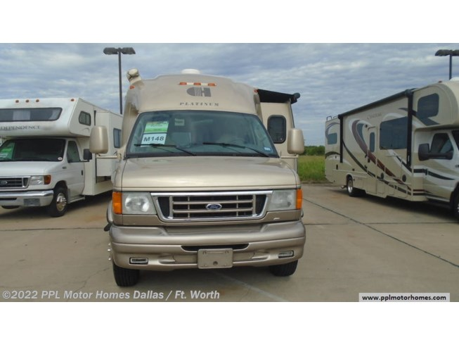 2008 Coach House Platinum 221XL - Used Class B For Sale by PPL Motor Homes in Cleburne, Texas features Air Conditioning, DVD Player, External Shower, Generator, Microwave, Non-Smoking Unit, Refrigerator, Satellite Dish, Slideout, Spare Tire Kit, Stove, TV, Water Heater