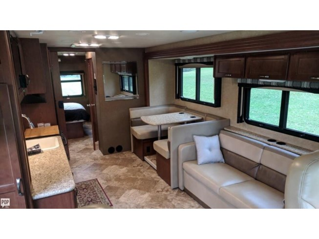 2015 Thor Motor Coach A.C.E. 30.1 - Used Class A For Sale by POP RVs in Batavia, New York features Air Conditioning, Awning, Generator, Leveling Jacks, Slideout