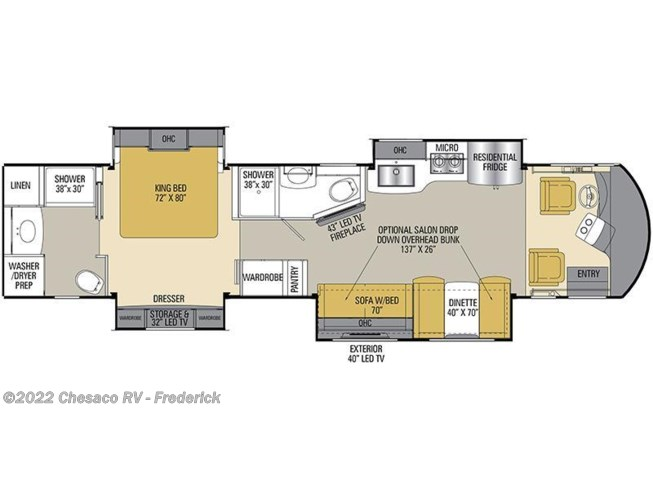2017 Coachmen Sportscoach RD 408DB floorplan image